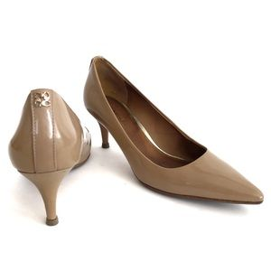 Coach Nude Patent Leather Pointed Toe Heel
